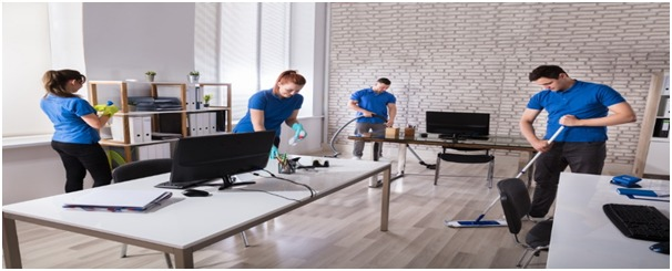 Office cleaning service in Ajman by aimpests team members